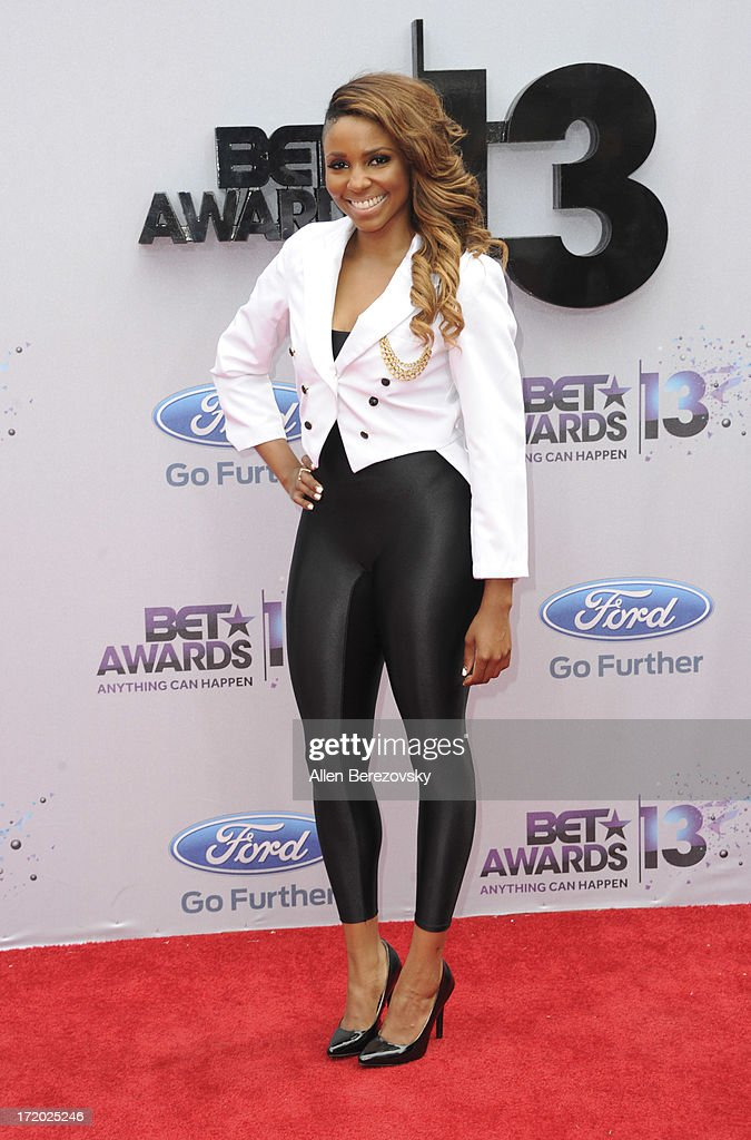 Recording artist Miss Mykie attends 2013 BET Awards Arrivals at Nokia Plaza LA LIVE on June 30 2013 in Los Angeles California