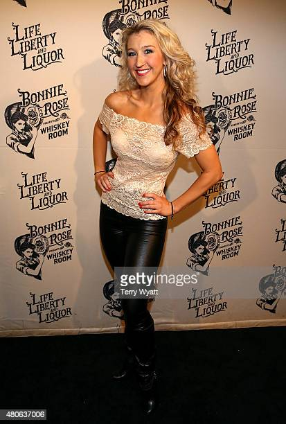Recording artist Misty Loggins attends the product launch of Bonnie Rose a new Tennessee white whiskey on July 13 2015 in Nashville Tennessee
