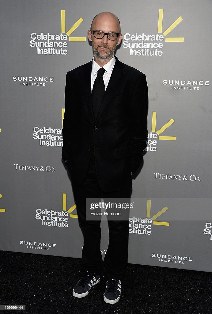 Recording artist <a gi-track='captionPersonalityLinkClicked' href=/galleries/search?phrase=Moby&family=editorial&specificpeople=203129 ng-click='$event.stopPropagation()'>Moby</a> attends the 2013 'Celebrate Sundance Institute' Los Angeles Benefit hosted by Tiffany & Co. at The Lot on June 5, 2013 in West Hollywood, California.
