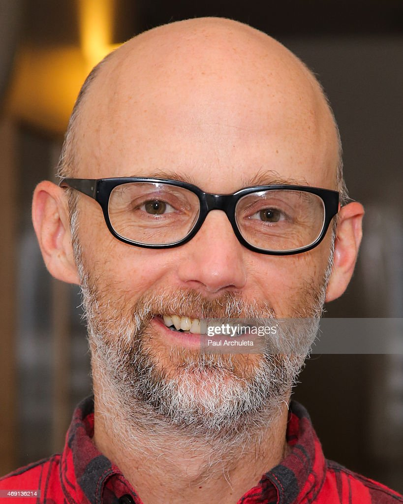 Recording Artist <a gi-track='captionPersonalityLinkClicked' href=/galleries/search?phrase=Moby&family=editorial&specificpeople=203129 ng-click='$event.stopPropagation()'>Moby</a> attends the signing and discussion of the book 'Living The Farm Sanctuary Life' at Skirball Cultural Center on April 9, 2015 in Los Angeles, California.