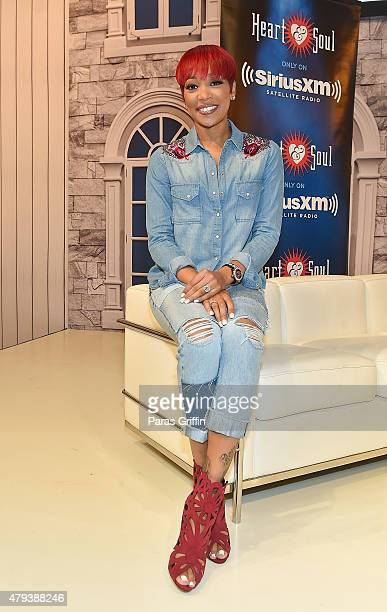 Recording artist Monica attends the 2015 Essence Music Festival on July 3 2015 at Ernest N Morial Convention Center in New Orleans Louisiana