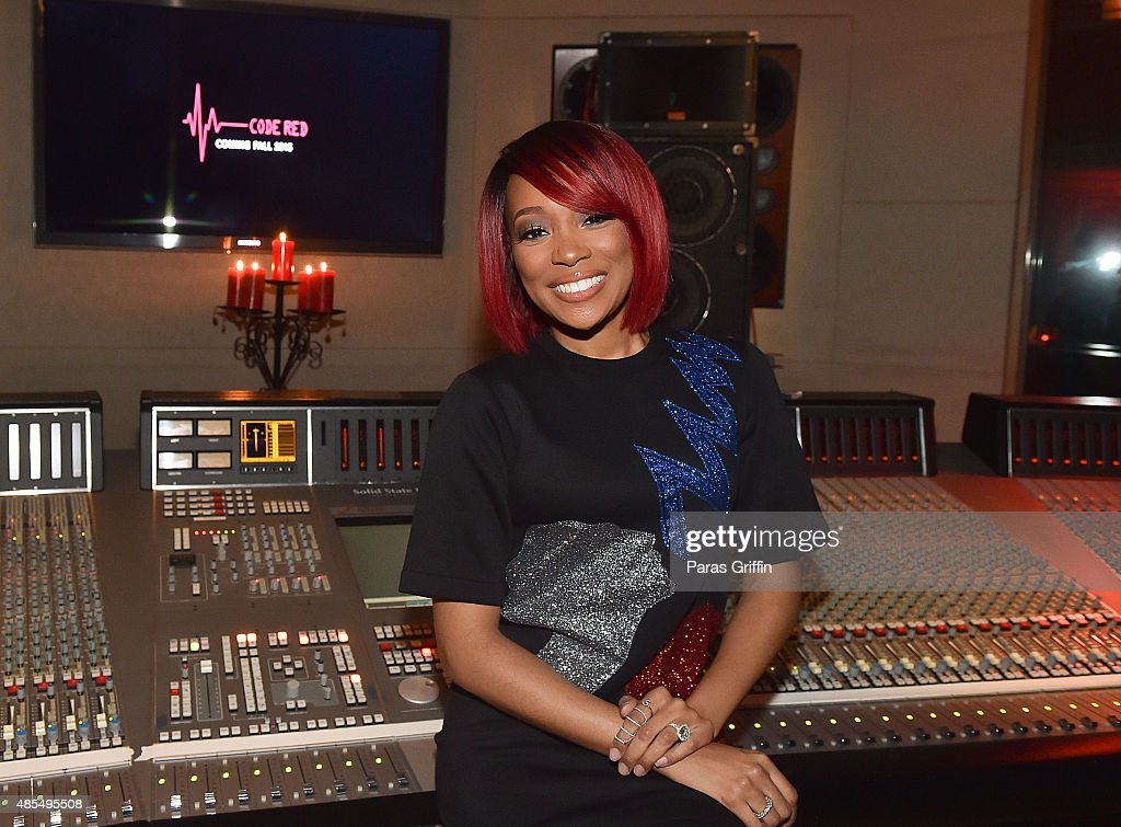 Recording artist Monica attends The Code Red Experience at Patchwerk Recording Studios on August 27 2015 in Atlanta Georgia