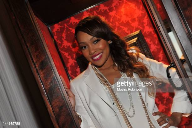 Recording Artist Monica Brown attends the Welcome to Hotel Noir event at W Hotel Buckhead on May 10 2012 in Atlanta Georgia
