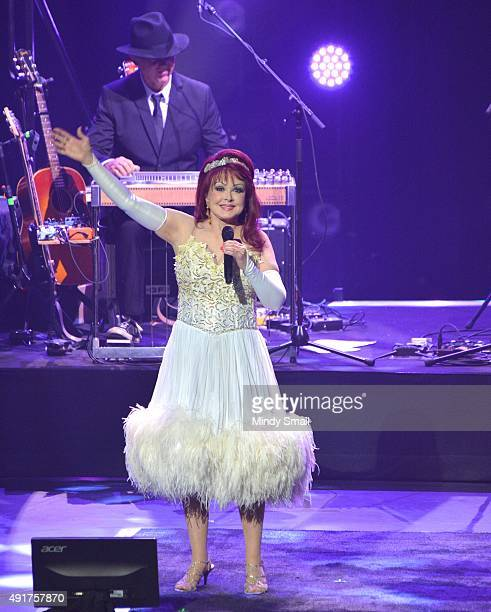 Recording artist Naomi Judd performs during the launch of the Judds' nineshow residency 'Girls Night Out' at The Venetian Las Vegas on October 7 2015...