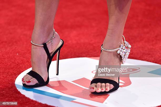 Recording artist Natalia Jimenez shoe detail attends the 16th Latin GRAMMY Awards at the MGM Grand Garden Arena on November 19 2015 in Las Vegas...