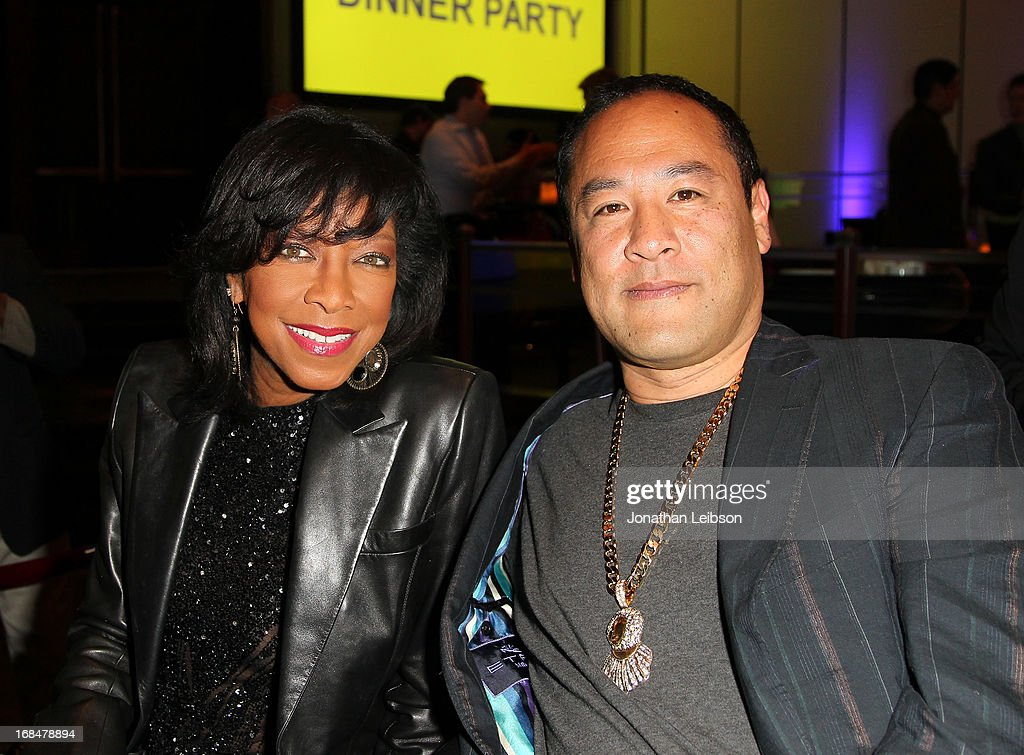 Recording artist <a gi-track='captionPersonalityLinkClicked' href=/galleries/search?phrase=Natalie+Cole&family=editorial&specificpeople=201839 ng-click='$event.stopPropagation()'>Natalie Cole</a> (L) and producer Dan the Automator attend the NARM 2013 meet and greet during the 2013 Music Biz Awards at the Hyatt Regency Century Plaza on May 9, 2013 in Los Angeles, California.