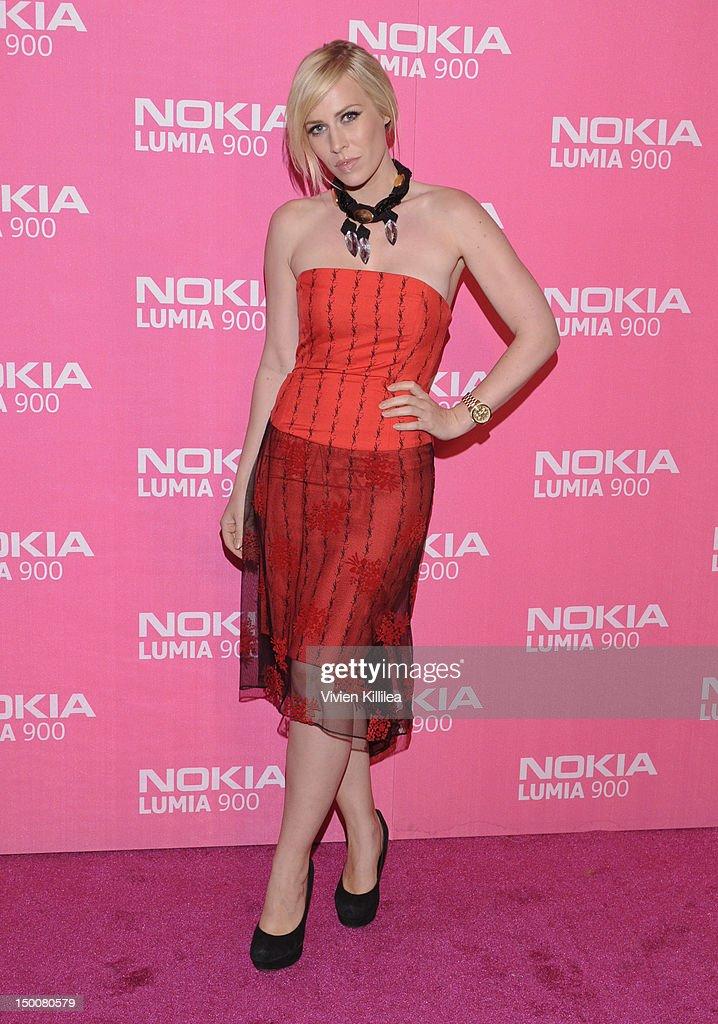 Recording artist Natasha Bedingfield attends Lumia Lounge At The Nokia Theatre LA LIVE Celebrating The Launch Of The Nokia Lumia 900 In Pink at Nokia...