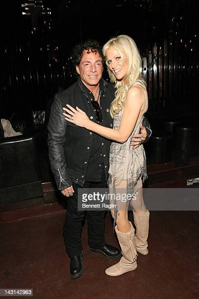 Recording artist Neal Schon and Michaele Salahi attends the preparty for the premiere of 'Don't Stop Believin' Everyman's Journey' during the 2012...