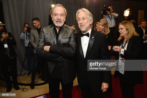 Recording artist Neil Diamond and President/CEO of The Recording Academy and GRAMMY Foundation President/CEO Neil Portnow attend PreGRAMMY Gala and...