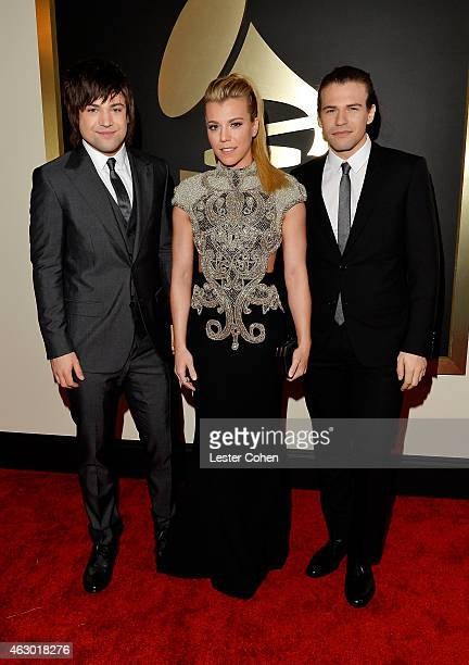 Recording artist Neil Perry Kimberly Perry and Reid Perry of The Band Perry attends The 57th Annual GRAMMY Awards at the STAPLES Center on February 8...