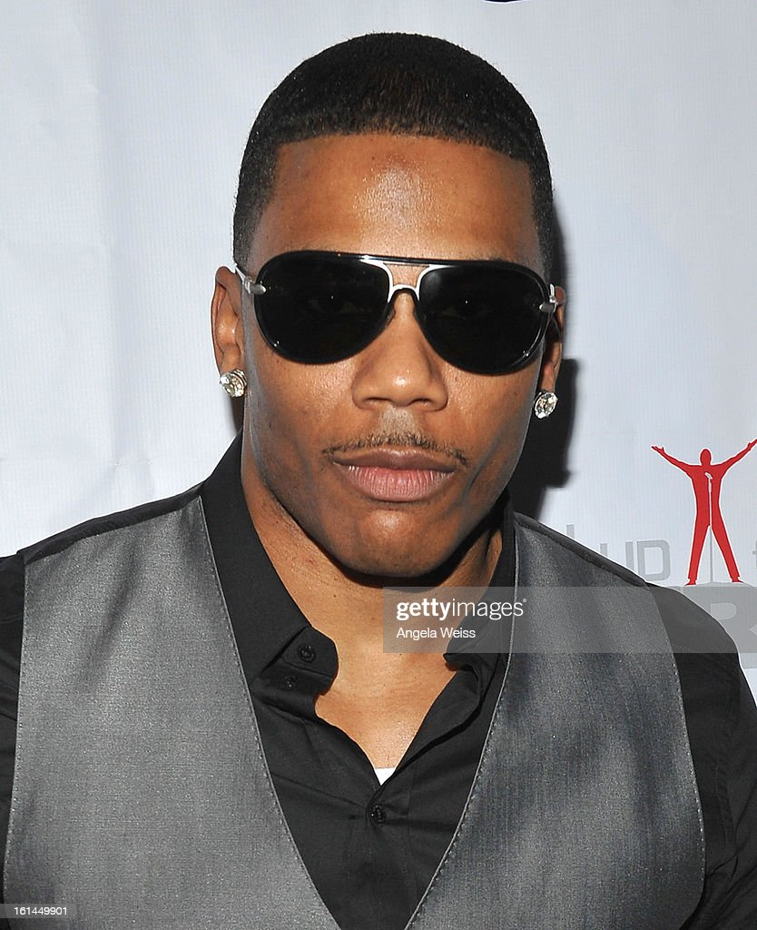 Recording artist <a gi-track='captionPersonalityLinkClicked' href=/galleries/search?phrase=Nelly+-+Cantante+de+rap&family=editorial&specificpeople=11499081 ng-click='$event.stopPropagation()'>Nelly</a> attends the Stand Up For A Cure 2013 Concert Series and Republic Records Grammy Party at The Emerson Theatre on February 10, 2013 in Hollywood, California.