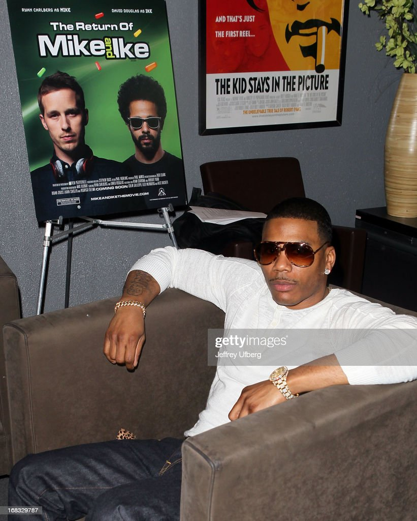 Recording artist Nelly attends the 'The Return of Mike and Ike' VIP party and special screening at Tribeca Cinemas on May 8 2013 in New York City