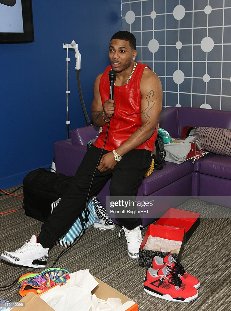 Recording artist Nelly visits BET's '106 & Park' at BET Studios on July 31, 2013 in New York City.