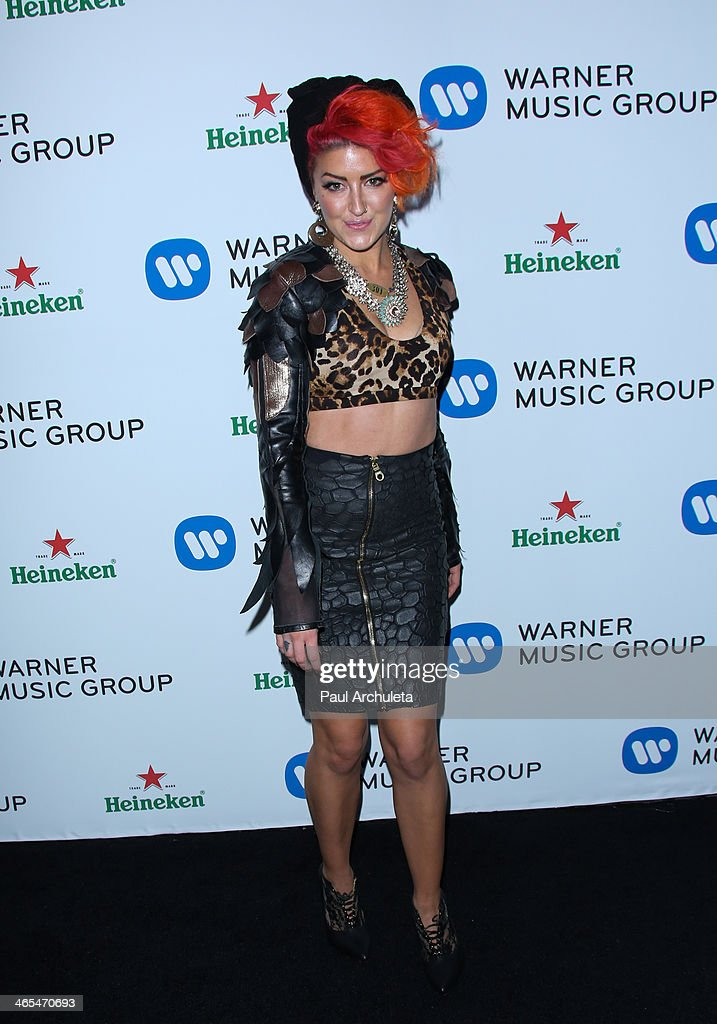 Recording Artist <a gi-track='captionPersonalityLinkClicked' href=/galleries/search?phrase=Neon+Hitch&family=editorial&specificpeople=6718170 ng-click='$event.stopPropagation()'>Neon Hitch</a> attends the Warner Music Group annual Grammy celebration at the Sunset Towers on January 26, 2014 in West Hollywood, California.