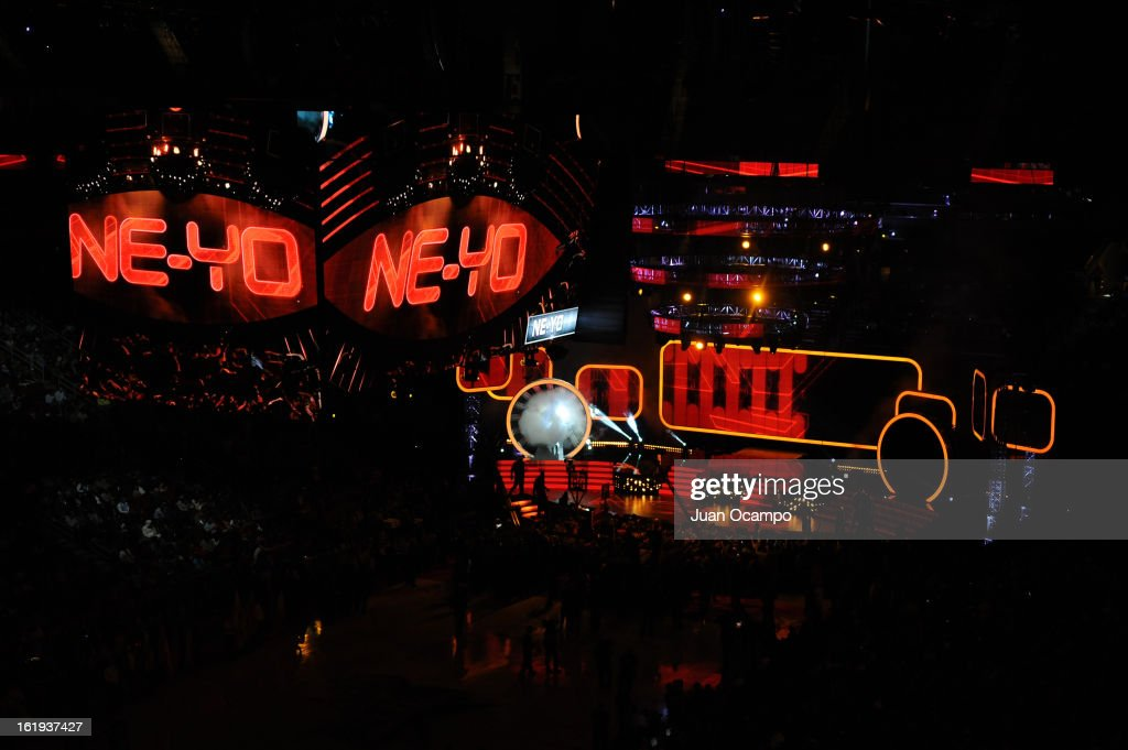 Recording Artist, Ne-Yo, performs before the 2013 NBA All-Star Game on February 17, 2013 at Toyota Center in Houston, Texas.