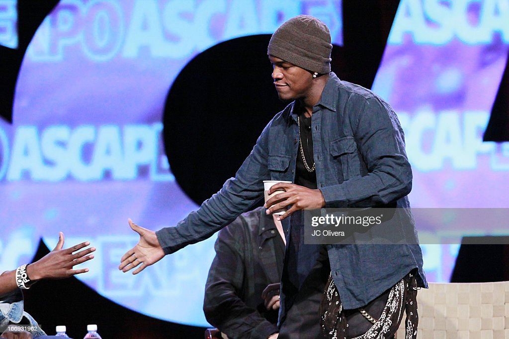 Recording artist <a gi-track='captionPersonalityLinkClicked' href=/galleries/search?phrase=Ne-Yo&family=editorial&specificpeople=451543 ng-click='$event.stopPropagation()'>Ne-Yo</a> speaks at the 8th Annual ASCAP 'I Create Music' EXPO at Loews Hollywood Hotel on April 18, 2013 in Hollywood, California.