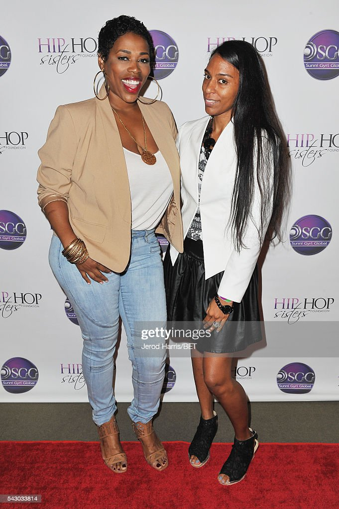 Recording artist Nicci Gilbert (L) and Mandy Aragones attend Women, Wealth, and Relationships presented by HIP HOP SISTERS during the 2016 BET Experience on June 25, 2016 in Los Angeles, California.