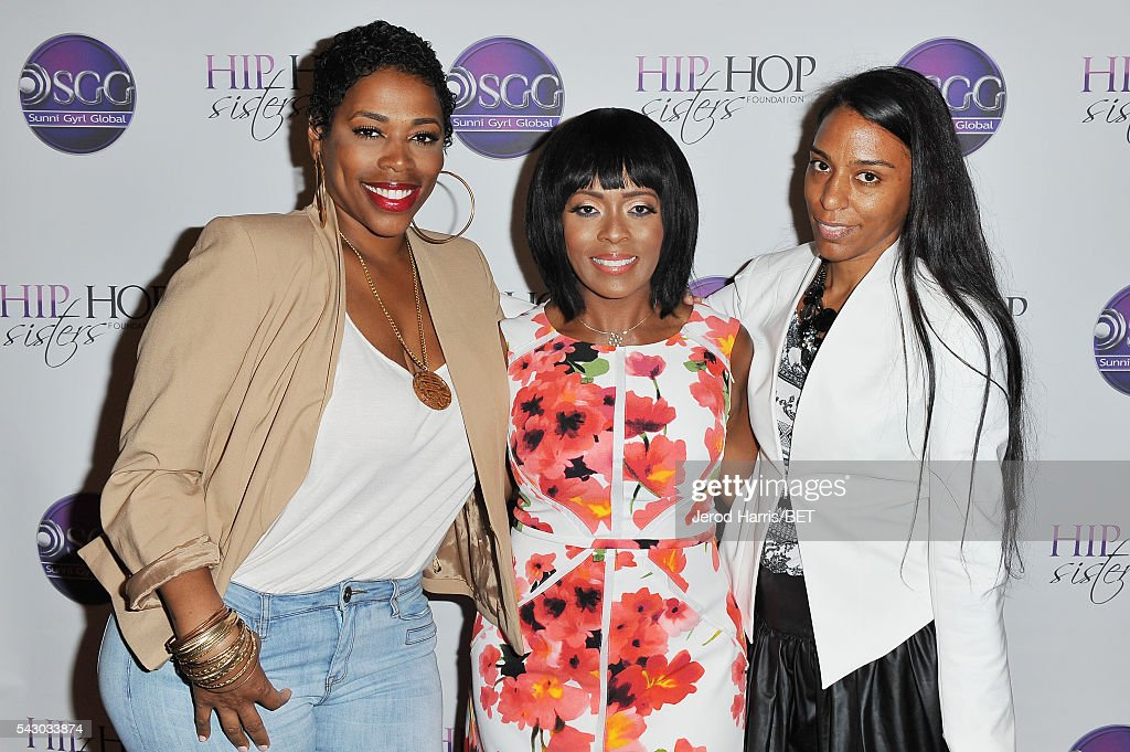 Recording artist Nicci Gilbert, tv personality Stacey J and Mandy Aragones attend Women, Wealth, and Relationships presented by HIP HOP SISTERS during the 2016 BET Experience on June 25, 2016 in Los Angeles, California.