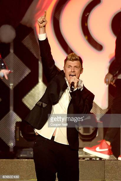 Recording artist Nick Carter of music group Backstreet Boys performs onstage at 1061 KISS FM's Jingle Ball 2016 presented by Capital One at American...