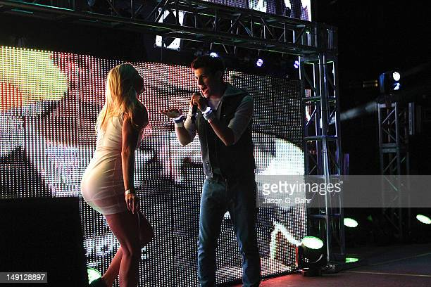 Recording Artist Nick Hissom and Dancer Morgan Larson perform with Manufactured Superstars at the 10th Annual Global Dance Festival at Red Rocks on...