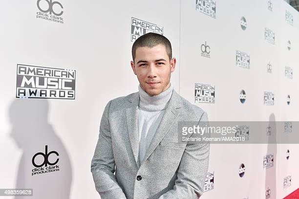 Recording artist Nick Jonas attends the 2015 American Music Awards at Microsoft Theater on November 22 2015 in Los Angeles California