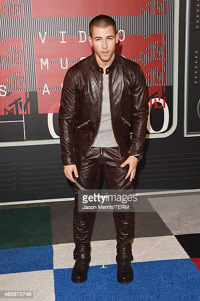 Recording artist Nick Jonas attends the 2015 MTV Video Music Awards at Microsoft Theater on August 30 2015 in Los Angeles California