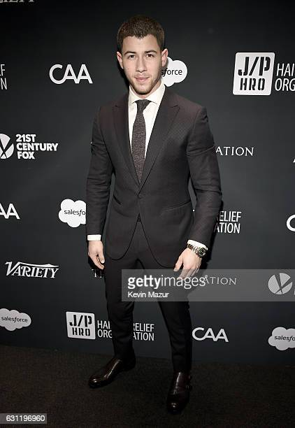 Recording artist Nick Jonas attends the 6th Annual Sean Penn Friends HAITI RISING Gala Benefiting J/P Haitian Relief Organizationat Montage Hotel on...