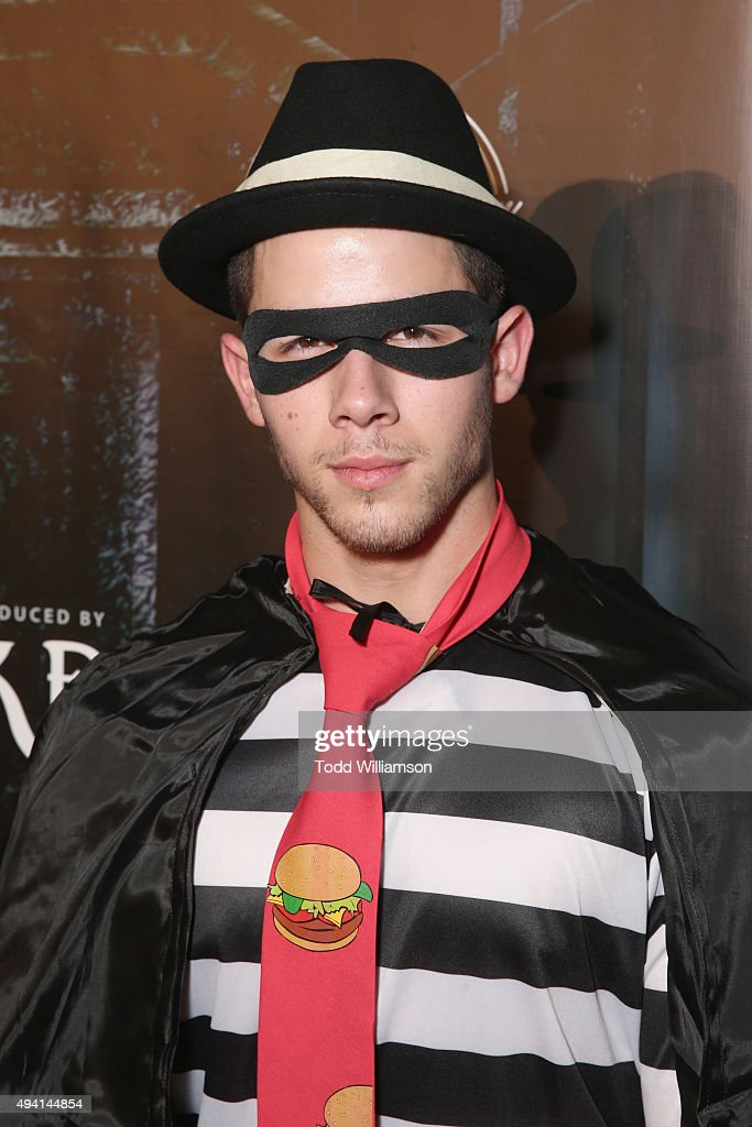 Recording artist Nick Jonas attends the Maxim Halloween Party Presented By Karma International on October 24, 2015 in Los Angeles, California.