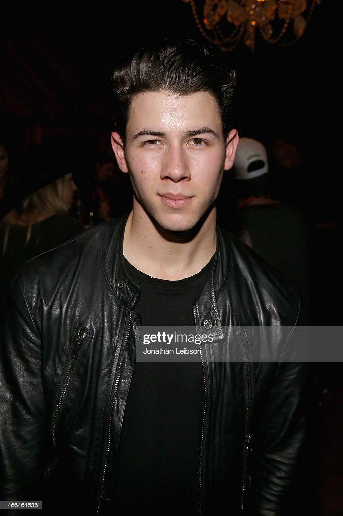Recording artist <a gi-track='captionPersonalityLinkClicked' href=/galleries/search?phrase=Nick+Jonas&family=editorial&specificpeople=842713 ng-click='$event.stopPropagation()'>Nick Jonas</a> attends the Roc Nation and Live Nation Raptor House on March 15, 2015 in Austin, Texas.