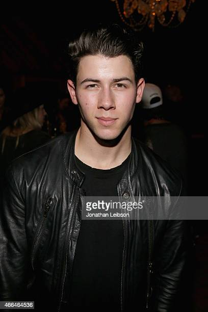 Recording artist Nick Jonas attends the Roc Nation and Live Nation Raptor House on March 15 2015 in Austin Texas