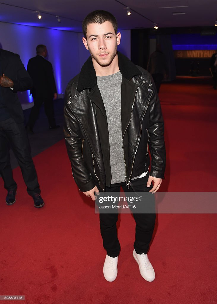 Recording artist <a gi-track='captionPersonalityLinkClicked' href=/galleries/search?phrase=Nick+Jonas&family=editorial&specificpeople=842713 ng-click='$event.stopPropagation()'>Nick Jonas</a> attends the Vanity Fair Super Bowl Party, hosted by Graydon Carter & Jon Bon Jovi, Honors Super Bowl 50 Host Committee & 50 Fund, Sponsored by Lands End on February 6, 2016 in San Francisco, California.