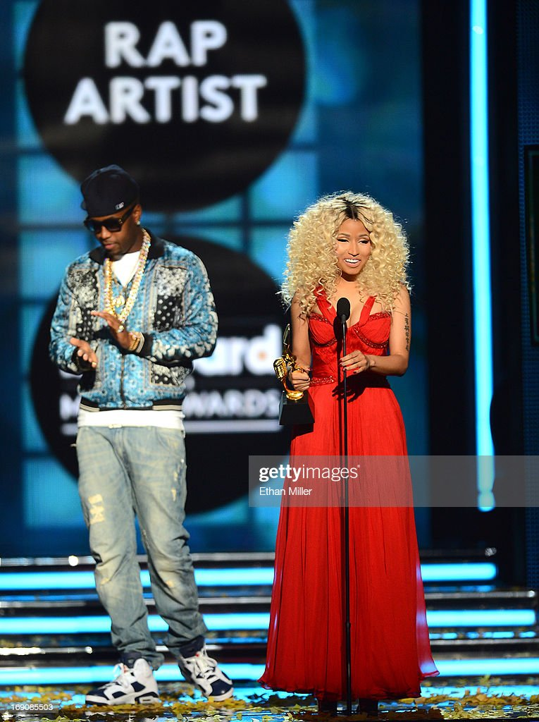 Recording artist Nicki Minaj accepts the award for Top Rap Artist onstage during the 2013 Billboard Music Awards at the MGM Grand Garden Arena on May 19, 2013 in Las Vegas, Nevada.