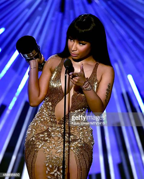 Recording artist Nicki Minaj accepts the Best Hip Hop Video award for 'Anaconda' onstage during the 2015 MTV Video Music Awards at Microsoft Theater...