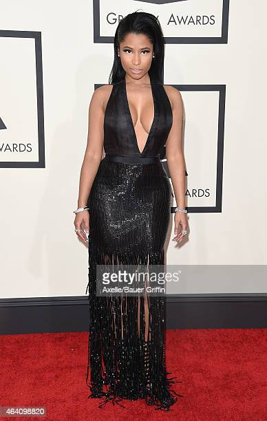 Recording artist Nicki Minaj arrives at the 57th Annual GRAMMY Awards at Staples Center on February 8 2015 in Los Angeles California