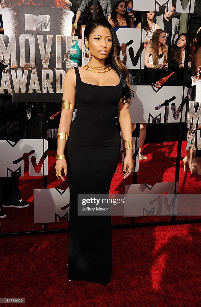 Recording artist Nicki Minaj attends the 2014 MTV Movie Awards at Nokia Theatre L.A. Live on April 13, 2014 in Los Angeles, California.