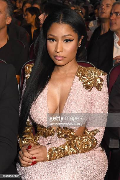 Recording artist Nicki Minaj attends the 2015 American Music Awards at Microsoft Theater on November 22 2015 in Los Angeles California