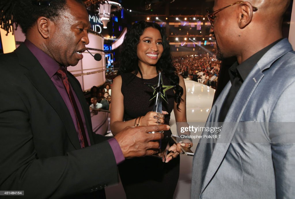 Recording artist <a gi-track='captionPersonalityLinkClicked' href=/galleries/search?phrase=Nicki+Minaj+-+Performer&family=editorial&specificpeople=6362705 ng-click='$event.stopPropagation()'>Nicki Minaj</a> attends the BET AWARDS '14 at Nokia Theatre L.A. LIVE on June 29, 2014 in Los Angeles, California.