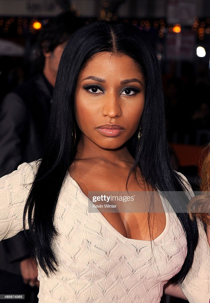 Recording artist <a gi-track='captionPersonalityLinkClicked' href=/galleries/search?phrase=Nicki+Minaj+-+Performer&family=editorial&specificpeople=6362705 ng-click='$event.stopPropagation()'>Nicki Minaj</a> attends the premiere of Twentieth Century Fox's 'The Other Woman' at Regency Village Theatre on April 21, 2014 in Westwood, California.