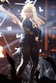 Recording artist Nicki Minaj performs onstage during the 2012 BET Awards at The Shrine Auditorium on July 1 2012 in Los Angeles California