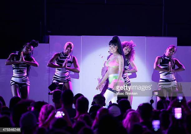 Recording artist Nicki Minaj performs onstage during The iHeartRadio Summer Pool Party at Caesars Palace on May 30 2015 in Las Vegas Nevada