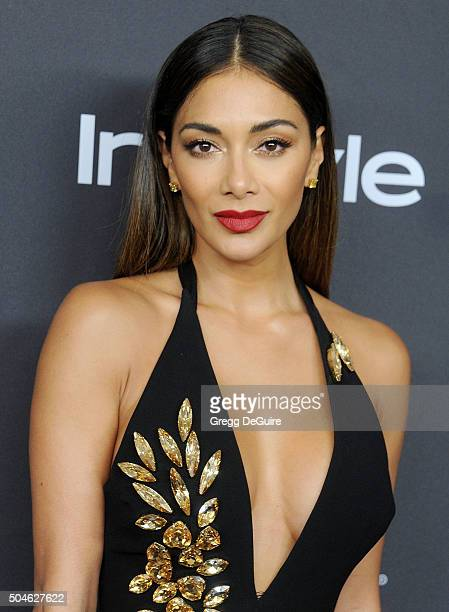 Recording artist Nicole Scherzinger arrives at the 2016 InStyle And Warner Bros 73rd Annual Golden Globe Awards PostParty at The Beverly Hilton Hotel...