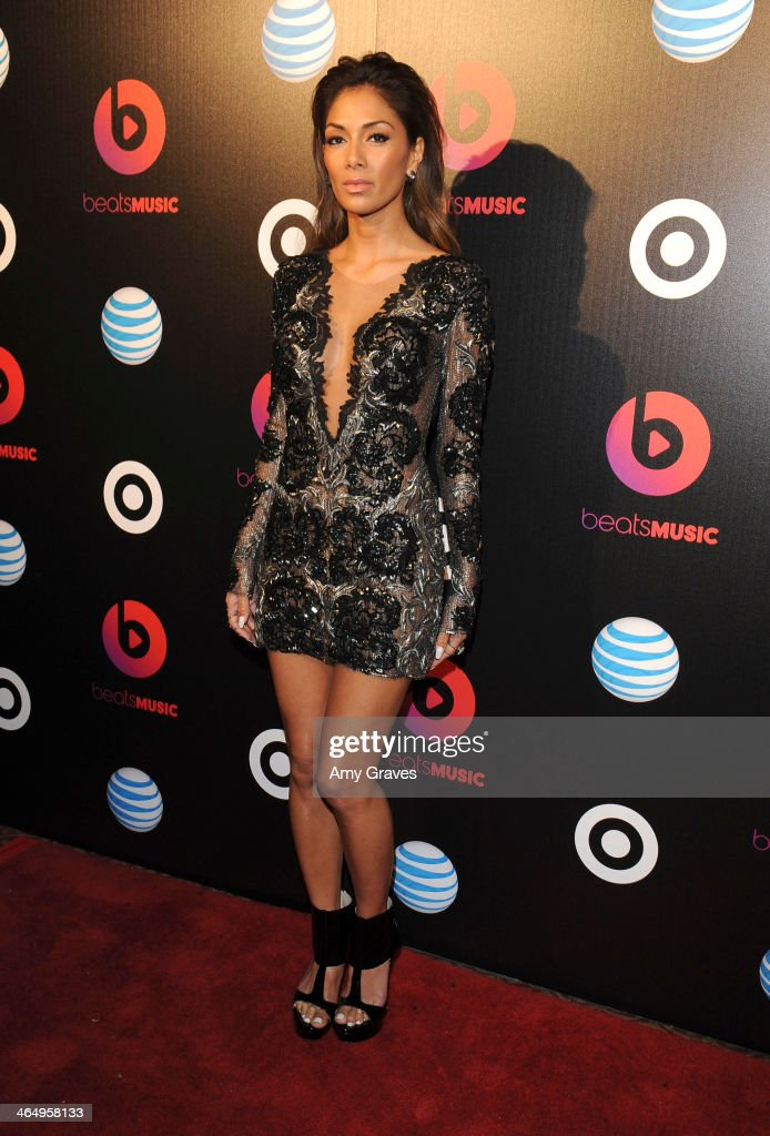 Recording artist <a gi-track='captionPersonalityLinkClicked' href=/galleries/search?phrase=Nicole+Scherzinger&family=editorial&specificpeople=678971 ng-click='$event.stopPropagation()'>Nicole Scherzinger</a> attends Beats Music Launch Party At Belasco Theatre at Belasco Theatre on January 24, 2014 in Los Angeles, California.
