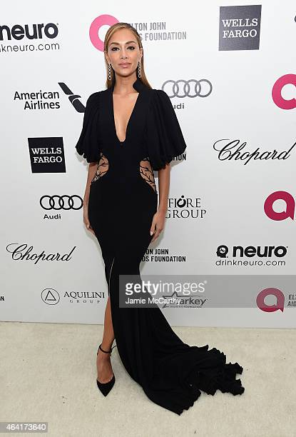 Recording artist Nicole Scherzinger attends the 23rd Annual Elton John AIDS Foundation Academy Awards Viewing Party on February 22 2015 in Los...