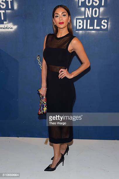 Recording Artist Nicole Scherzinger attends the Alice Olivia By Stacey Bendet Arrivals at The Gallery Skylight at Clarkson Sq on February 16 2016 in...