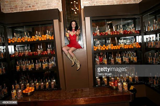 Recording artist Nikki Lane attends the product launch of Bonnie Rose a new Tennessee white whiskey on July 13 2015 in Nashville Tennessee
