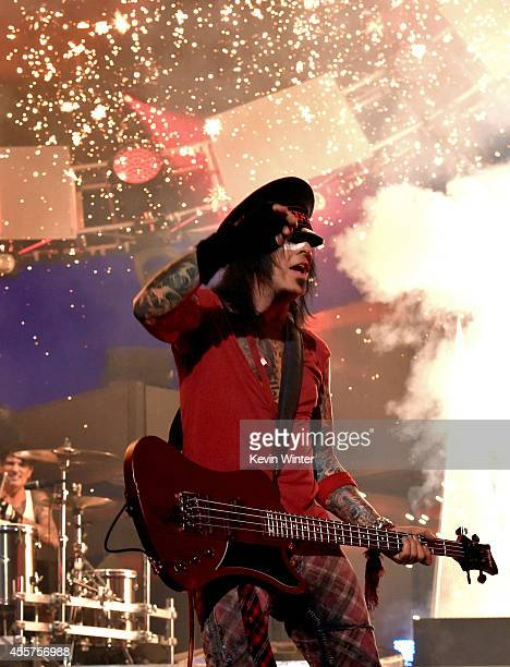 Recording artist Nikki Sixx of the band Motley Crue performs onstage during the 2014 iHeartRadio Music Festival at the MGM Grand Garden Arena on...
