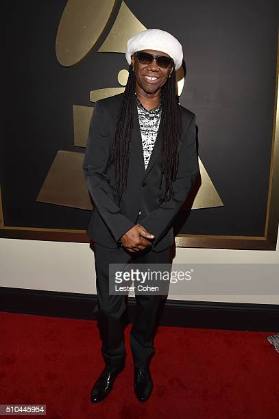 Recording Artist Nile Rodgers attends The 58th GRAMMY Awards at Staples Center on February 15 2016 in Los Angeles California