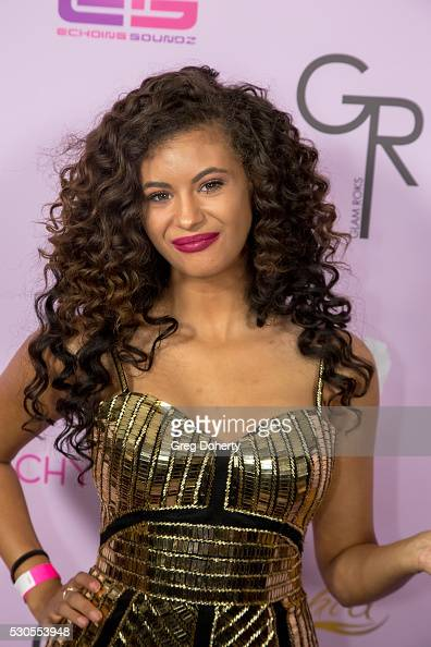 Recording Artist Olivia Grace arrives at the Blac Chyna Birthday Celebration And Unveiling Of Her 'Chymoji' Emoji Collection at the Hard Rock Cafe on...
