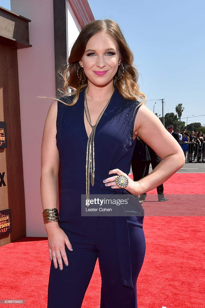Recording artist Olivia Lane attends the 2016 American Country Countdown Awards at The Forum on May 1, 2016 in Inglewood, California.