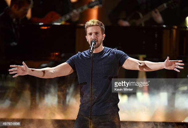 Recording artist Pablo Alboran performs onstage during the 16th Latin GRAMMY Awards at the MGM Grand Garden Arena on November 19 2015 in Las Vegas...